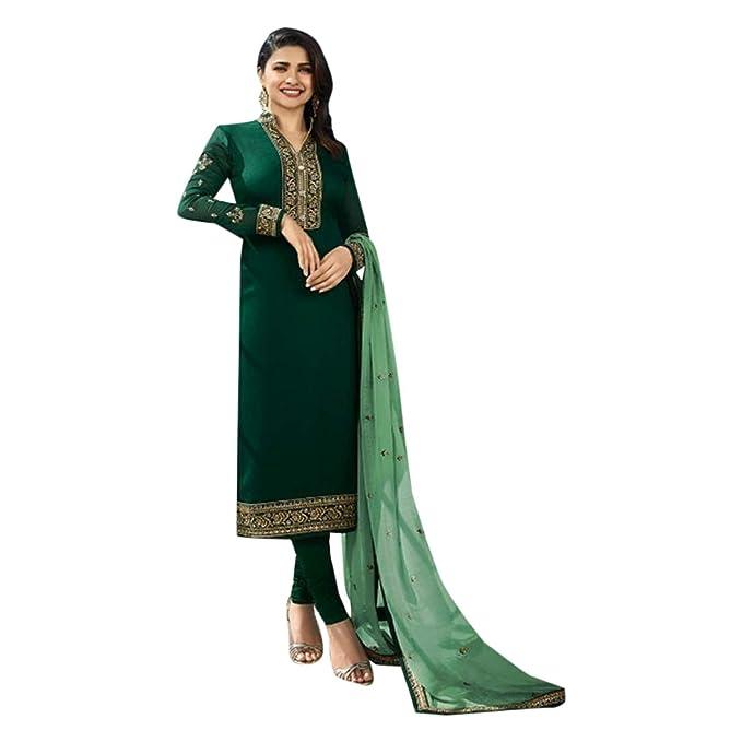 Amazon.com: Vestido para mujer de seda verde Georgette ...