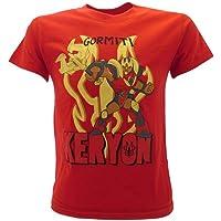 Sabor srl Camiseta de Gormiti original Keryon roja 100% algodón para niño