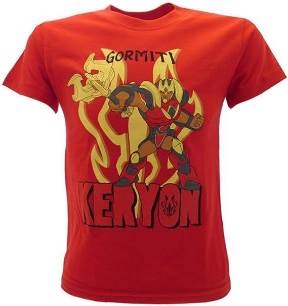 T-shirt Gormiti Originale Ufficiale Keryon rossa bimbo maglia maglietta