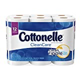 #4: Cottonelle Clean Care Big Roll Toilet Paper, Bath Tissue, 12 Toilet Paper Rolls