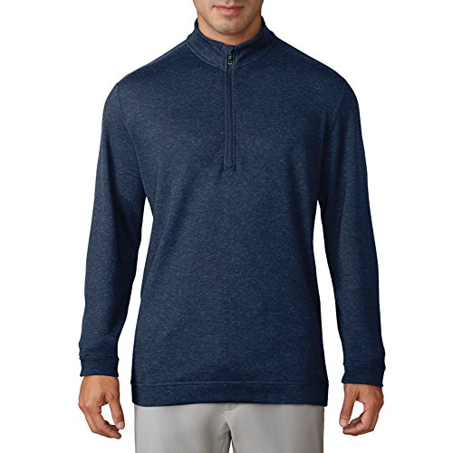 Wool 1/4 Zip Pullover - adidas Golf Men's Wool 1/4 Zip Pullover Top, ST Dark Slate Mel, X-Large