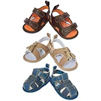 Little Me 3 Pack Baby Boy Shoes- Baby Boy Sandals- for Summer & Beach- Baby Gift- for Newborn & Infant