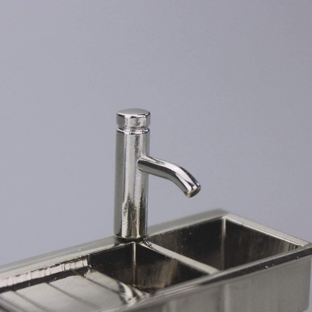 1//12 Dollhouse Accessories Miniature Alloy Faucet Model Toys Water Tap Faucet XI