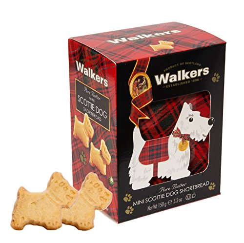 Walkers Shortbread Mini Scottie Dogs, Traditional Pure Butter Shortbread Cookies in Novelty Packaging, 5.3 Ounce Decorative Carton