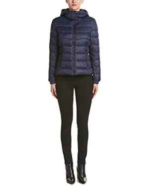 Save The Duck Womens Giga Short Quilted Puffer Jacket, 1, Blue