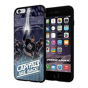 """Hockey NHL Washington Capitals Strikeback, Cool iPhone 6 Plus (6+ , 5.5"""") Smartphone Case Cover Collector iphone TPU Rubber Case Black"""