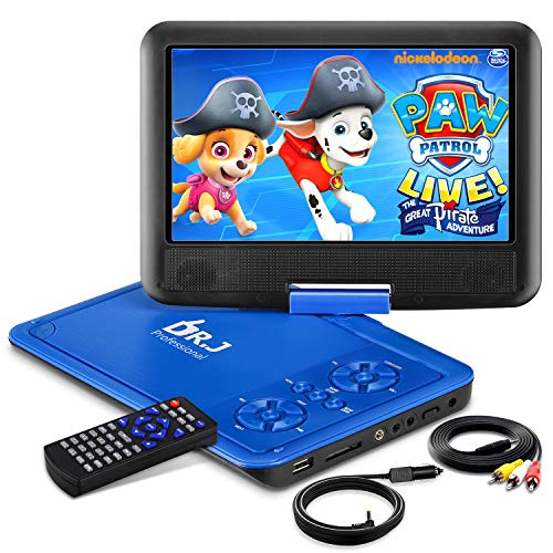"""DR. J 11.5"""" Portable DVD Player with HD 9.5"""" Swivel Screen"""