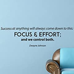 Success at anything will always come down to this: Focus & effort; and we control both - Dwayne Johnson HANDMADE IN THE USA I create and package every piece of Inspirational Wall Art myself to ensure the highest quality possible for every...