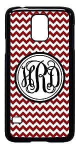 Personalized Monogram Chevron Red Vine Samsung Galaxy S3 Case Cover *RUBBER*