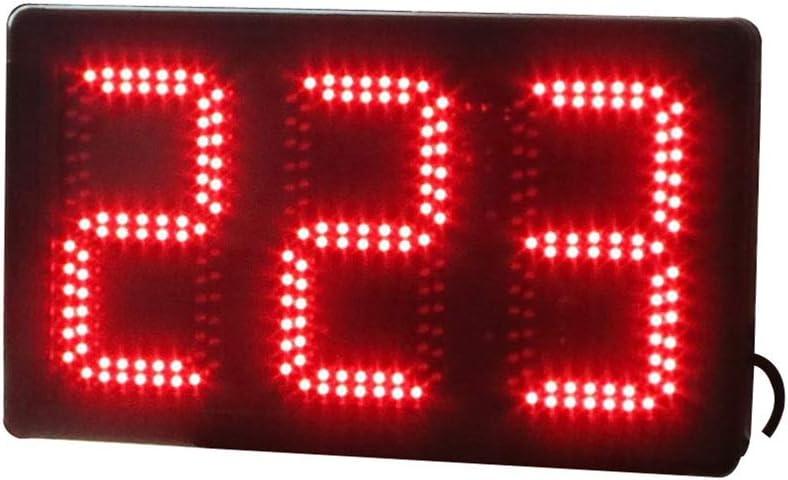 デジタルスポーツタイマー リモートコントロール付き大型デジタルLEDインターバルタイマートレーニングジムカウントダウンストップウォッチ ベーキングスクールオフィス (色 : ブラック, サイズ : 47X28X9CM) ブラック 47X28X9CM