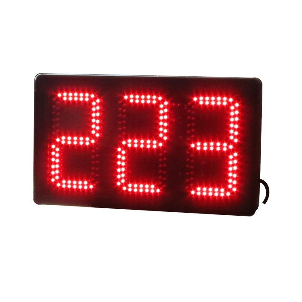 LEDスポーツタイマー リモートコントロール付き大型デジタルLEDインターバルタイマートレーニングジムカウントダウンストップウォッチ デジタルスポーツタイマー (色 : ブラック, サイズ : 47X28X9CM) ブラック 47X28X9CM