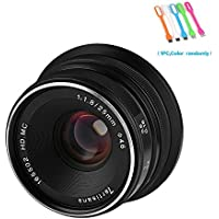 7artisans 25mm F1.8 Large Aperture Manual Focus Prime Fixed Lens For Sony E-mount Cameras NEX-3/3N/C3/F3K/5K/5/5T/5R/5N/5C /5R,A7,A7II,A7R,A7RII,A7S, A7SII,A5000, A5100, A6000, A6100,A6300, A6500 ,A9