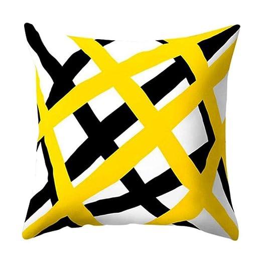 HHOME Fashion Polyester Geometric Cushion Yellow Pineapple ...
