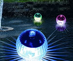 Set of 4 Colourful Solar LED Swimming Pond Lights
