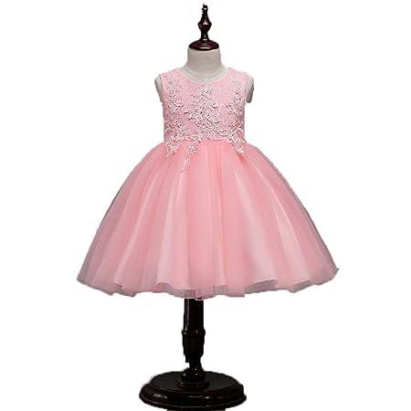 Vestido de princesa para niñas Niñas Apliques Encaje Vestido ...