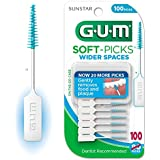 Sunstar 634B GUM Soft-Pick for Wider Space, Rubber Soft Bristle (Pack of 100)