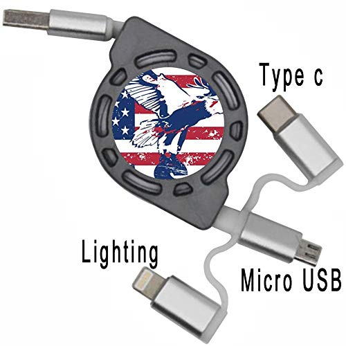 Scotland Fashion Shop Use As Date Cable USB Port Boys Print with American Flag 1 Soft Cable Support Flexible Sole