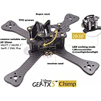 gouduoduo2018 DIY FPV mini Racing Drone GEP-TX 180 / 210 / 230 quadcopter 3k carbon fiber frame 4mm main lower plate better than QAV-X QAVR (5-inch wheelbase 210mm)