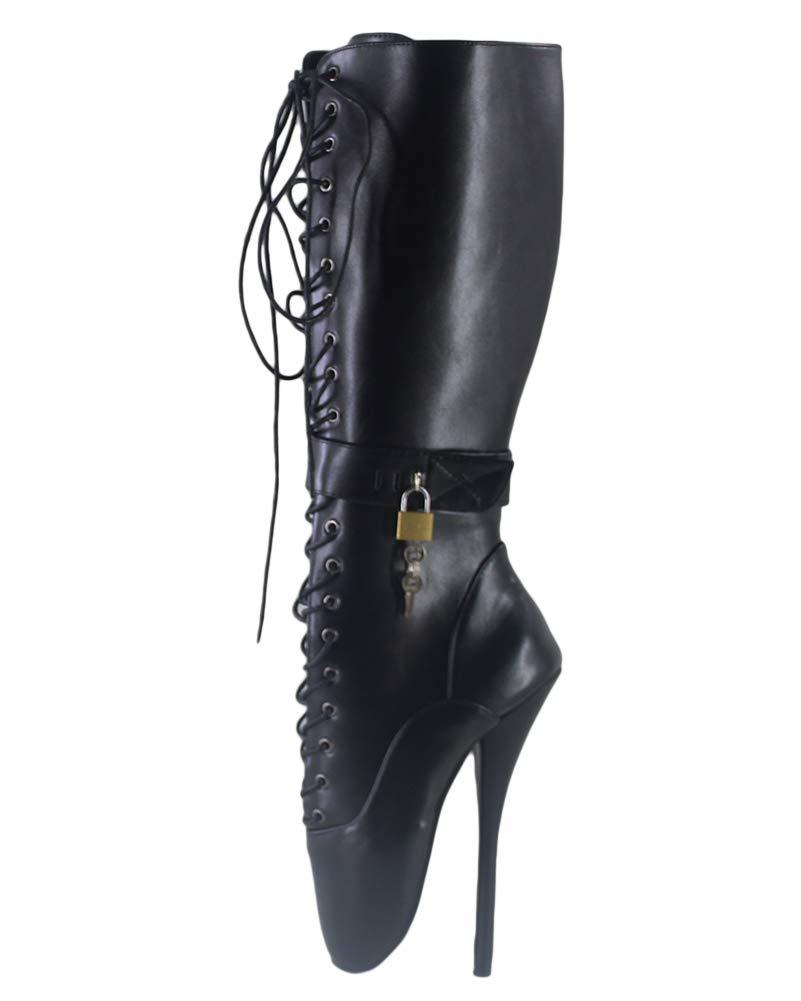 WONDERHEEL Womens Locked Zipper Ballet Boots