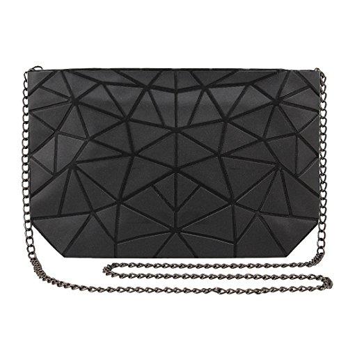 Silver Bag Black Novias Boutique Shoulder Cross Ladies Plaid Clutch Party Women Body Geometric nPAnZqw6z