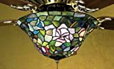 Tiffany Rosebush Fan Light Fixture