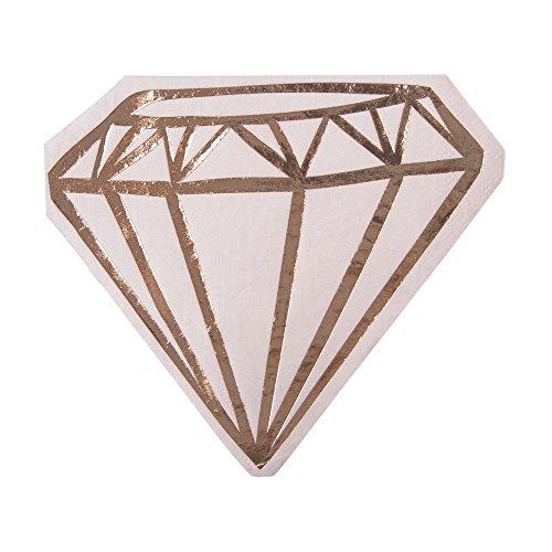 Slant Pink Die-Cut Diamond Paper Napkins