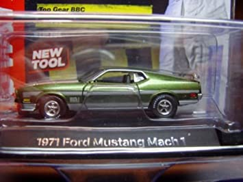 Amazon auto world licensed premium bbc top gear green 164 auto world licensed premium bbc top gear green 164 scale 1971 ford mustang mach publicscrutiny Image collections