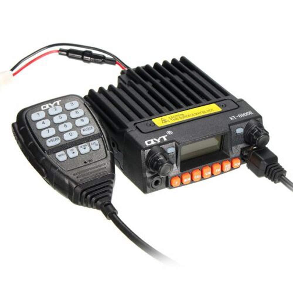 QYT KT-8900R Tri-Band Mobile Transceiver Radio 25W VHF 136-174 220-260MHz UHF 400-480MHz Mini Car Radio Amateur HAM Radio w F Programming Cable