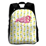 Pineapple Flamingo Functional Design For Students School Backpack Children Bookbag Perfect For Transporting For Casual In 4 Season