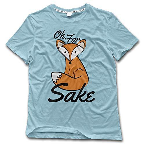 Aiguan Oh, for Fox Sake Mens Lightweight Short Sleeve T-Shirt Casual Top Tee SkyBlue 4XL