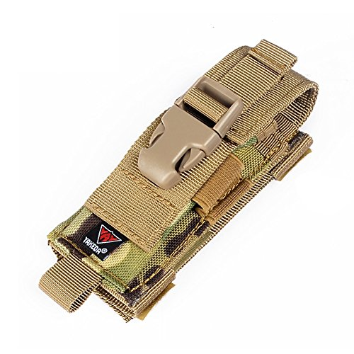 Yakeda Carry All Folding Knife Belt Sheath Nylon Sheath Dual Carry/Molle Strap Knife Bag--C88044-1 (CP camouflage)