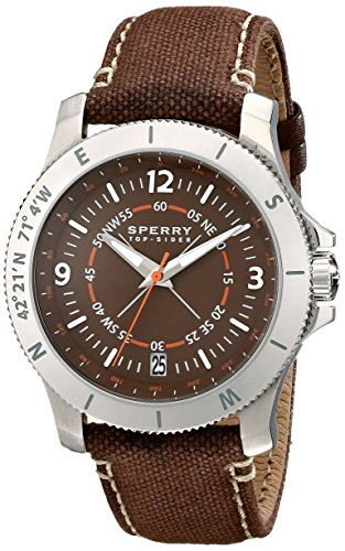Sperry Top-Sider Men's 10018705 Explorer Analog Display Japanese Quartz Brown Watch