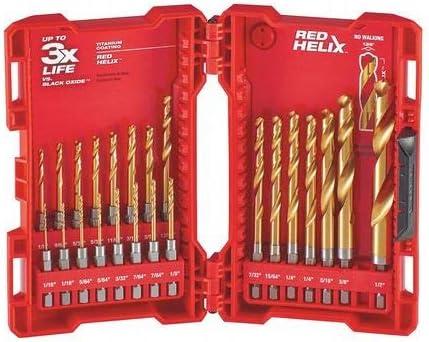 Milwaukee 48-89-4630 Titanium Shockwave Drill Bit Set Driver Kit 15 Piece NEW
