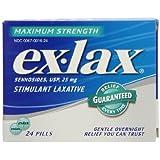 Ex-Lax Maximum Strength Laxative, 24-Count Pills