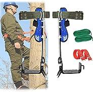 Tree Climbing Gear Kits,Tree Climbing Tool,304 Stainless Steel Tree Climbing Tool Non-Slip Belt for Picking Fr