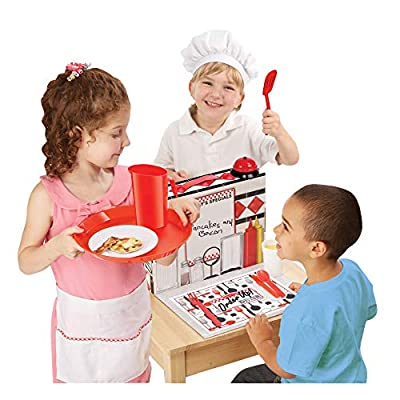 Melissa & Doug Order Up! Diner Play Set With Play Food (53 Pieces, Great Gift for Girls and Boys – Best for 3, 4, 5, 6 and 7 Year Olds), 885336529636, Multi: Melissa & Doug: Toys & Games