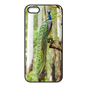ALICASE Diy Customized Hard Case Peacock for iPhone 5,5S [Pattern-2]