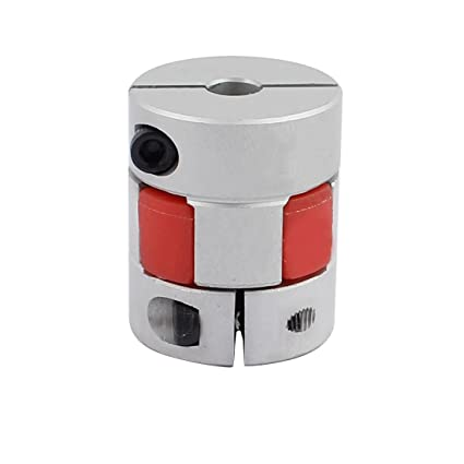 Befenybay 2PCS 5mm to 5mm Aluminium Plum Flexible Shaft Coupling Diameter 20mm Length 25mm Connector Flexible Coupler for 3D Printer CNC Machine and Servo Stepped Motor(5x5mm)