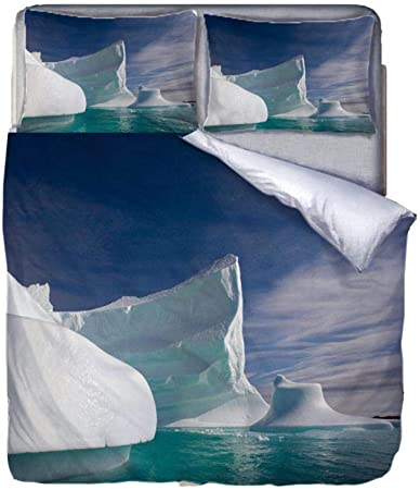 Copripiumino Iceberg.Ahhvl Set Copripiumino In Microfibra Iceberg Parure Da Letto 3