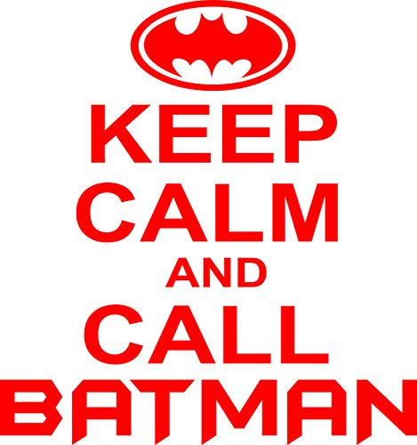 Chic Walls Removable Keep Calm And Call Batman Text Quote Saying Wall Glass Window Art Décor Decal Vinyl Sticker Mural Bedroom Kids Room Office Bathroom Nursery Red - Glasses Vancouver Store