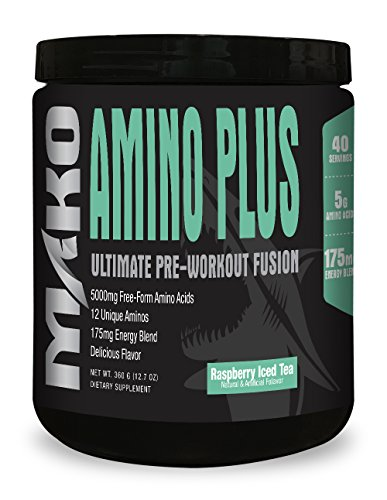 MAKO NUTRITION Amino Plus Anytime Energy & Recovery Drink 360 gm, Raspberry Ice Tea, 40 Count