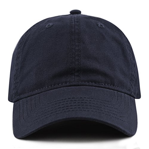 THE HAT DEPOT 100% Cotton Canvas 6-Panel Low-Profile Adjustable Dad Baseball Cap - Blue Hat Adjustable