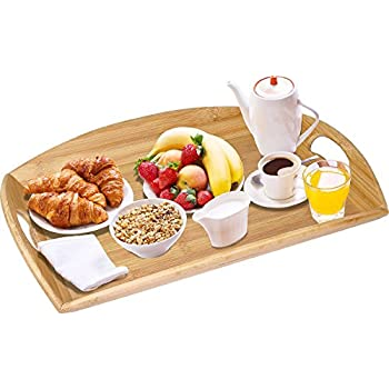 Amazon Com Wood Food Serving Tray With Double Handles