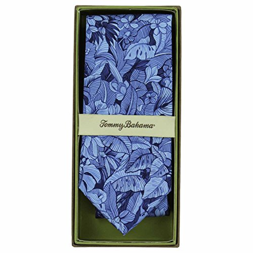 Tommy Bahama Necktie - Tommy Bahama Mens Printed Silk Neck Tie (Blue Tropical)