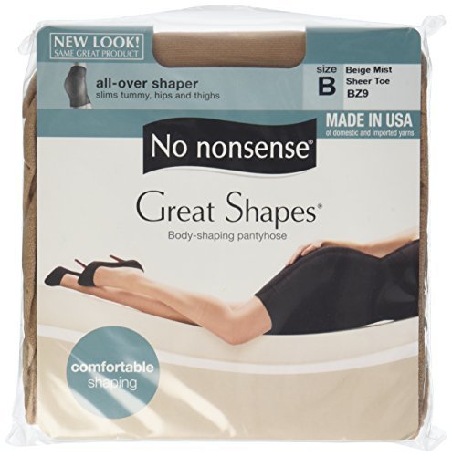 No Nonsense Great Shapes All Over Shaper B General Electric Mist Pantyhose, 1 ct