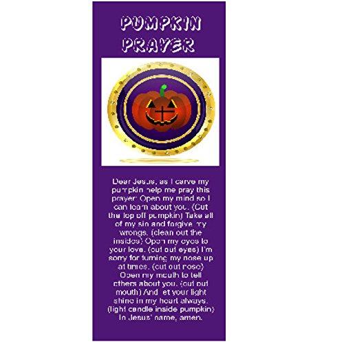 Pumpkin Prayer Purple Bookmarks (1000