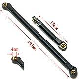 Aluminum Steering Linkage Rod Link Set for 1/10 Axial SCX10 RC Crawler Car (Black)