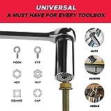 "Universal Socket Tool Set - 1/4""-3/4"" (7-19mm) 3pcs"