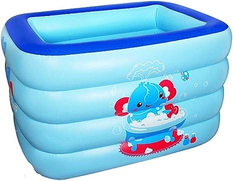 Ljf Piscina Inflable Familiar, fácil de Plegar y Aceptar, Piscina de Agua, Piscina Inflable oceánica, Piscina para niños, Impresión Azul, 140 * 105 * 75 cm: Amazon.es: Deportes y aire libre