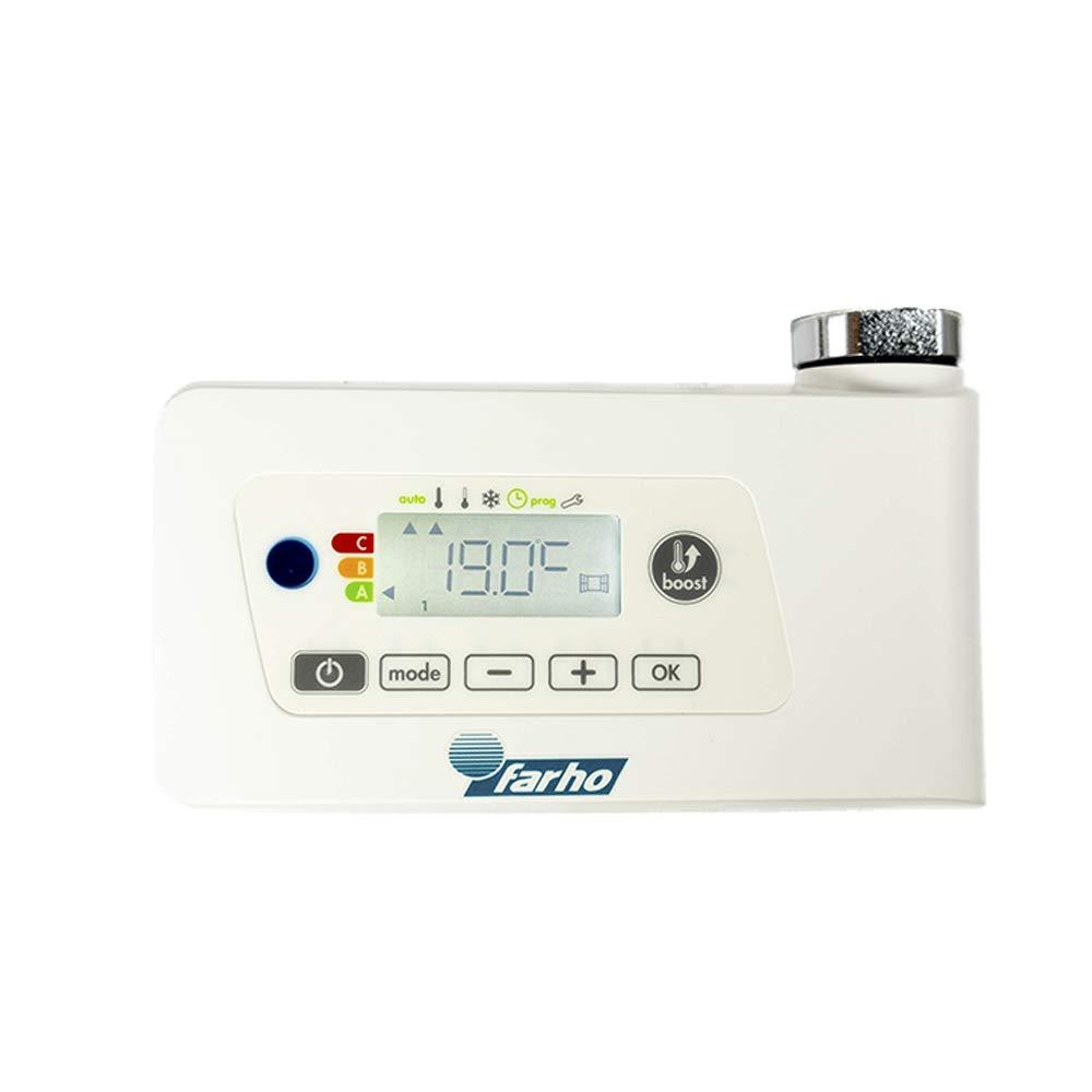 Medidas 800 x 500mm FARHO Secador de Toallas Electrico Nova Little Blanco 400W /· Radiador Toallero Electrico Bajo Consumo /· Toalleros de Ba/ño//Calentador Toallas Digital Programable